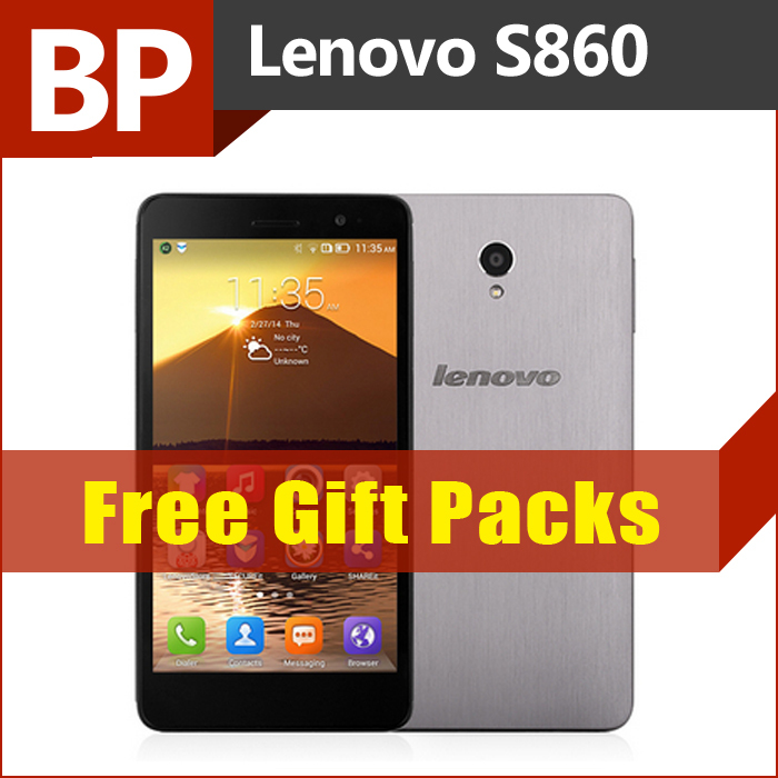 Original Lenovo S860 5.3 Inch HD IPS 4000mAh Battery Mt6582 Quad Core Android 4.2 Mobile Cell Phone 1GB RAM 16GB ROM 8MP GPS BT(China (Mainland))
