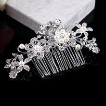 Wedding Bridal Pearl Hair Pins Flower Crystal Hair Clips Bridesmaid Jewelry wedding bridal accessories hair jewelry