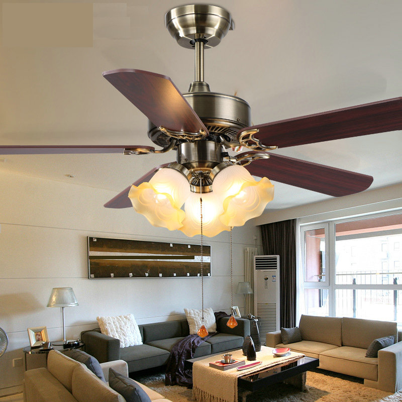 42 inch Fan Lights Living Room Bedroom Ceiling Fans Light Household Dining Hot New Ceiling Fan ...