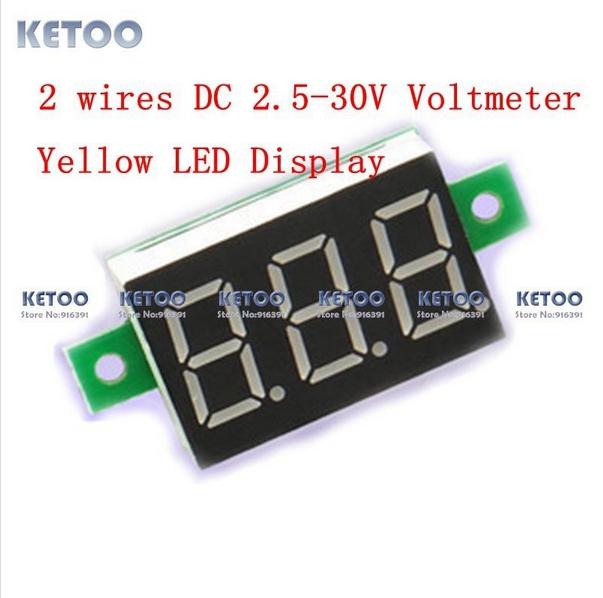 Вольтметр Brand New 5pcs/2,5 30V DC B0013-5 dc 4 5 30v 0 50a двойной красный светодиодный цифровой вольтметр амперметр напряжение питания amp es9p