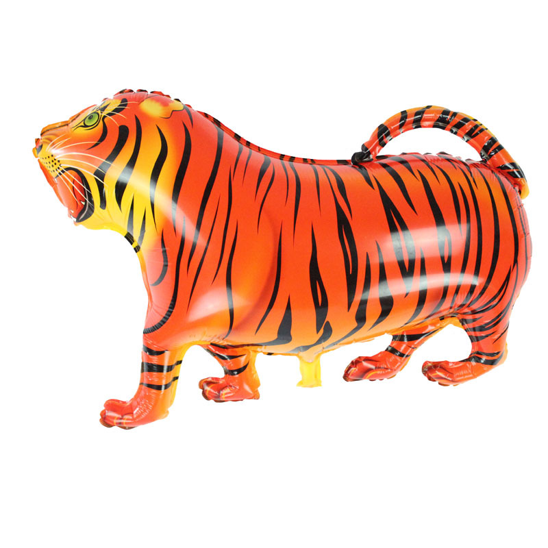 Free Shipping 2 pcs Walking Pet Balloons Tiger Walking Animal Foil Balloons Party Decoration Supplies kids Toys Globos Balony(China (Mainland))