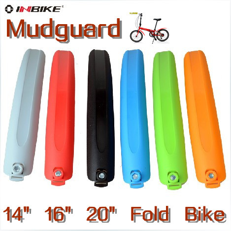 "Free Shipping Universal Quick Release Folding Bike Bicycle Mudguard Fenders 14"" 16"" 20"" Wheel Universal Bike Mudguard"