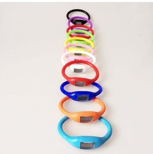 FreeShipping 13 colors 2015 NEW Cheap Fashion Anion Sports Wrist Digital Silicone Quartz LED Watch Toy