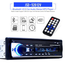 JSD-520 12V Bluetooth Stereo FM Radio MP3 Audio Player USB / SD / AUX / APE / FLAC Car Electronics Subwoofer In-Dash One DIN(China (Mainland))