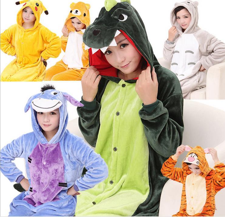 2017 Unicorn Stitch Panda Unisex Flannel Hoodie Pajamas Costume Cosplay Animal Onesies Sleepwear For Men Women Adults ChildLC042