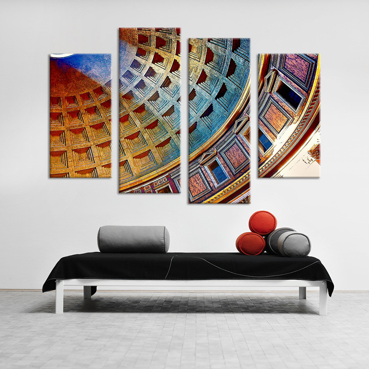 Hot Sells 4pcs HD Coliseum, Rome, Italy Wall Art Picture Home Decoration Living Room Print On Canvas seascape CFARA043(China (Mainland))