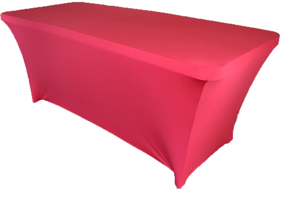 10pcs rectangular spandex table cover 6 ft apple red in for 10 ft table cloth