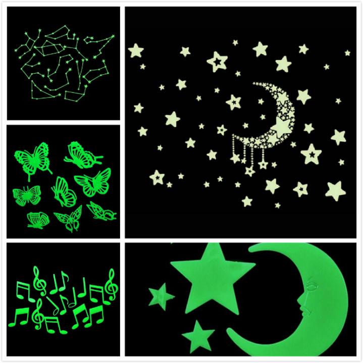 Гаджет  Amazing Fluorescence Glow in Dark Luminous Star Nursery Kid Baby Room Wall Sticker Decal None Дом и Сад