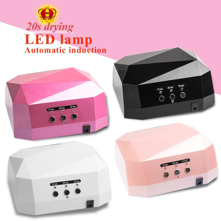Phototherapy UV LED lamp nail light LED automatic induction machine diamonds Dryer for UV Gel Nail Polish 36w &18w for choice(China (Mainland))