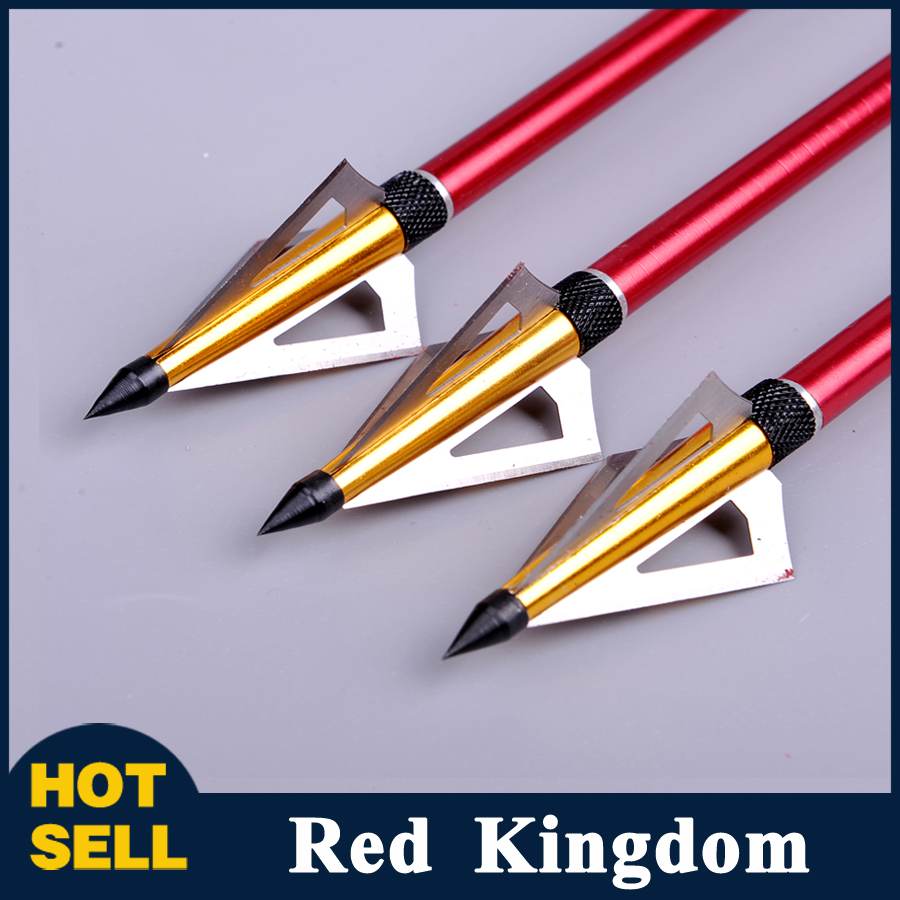 6pcs lot 125 Grain Hunting Crossbow Arrow Broadhead with 3 Fixed Blades used As Archery Bow