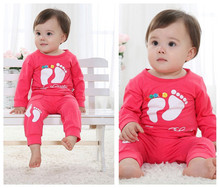 S600 A 2015 Hot sale New Long Sleeve 0 2 years old baby clothing sport suit