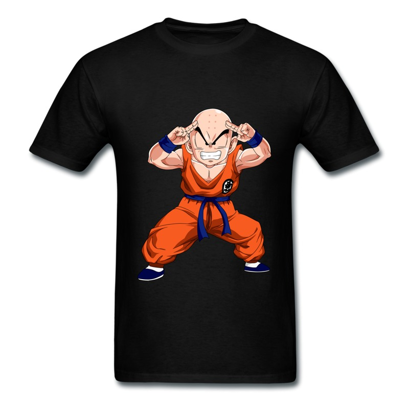 men short sleeve tee shirt dragon ball krillin funny cool. Black Bedroom Furniture Sets. Home Design Ideas