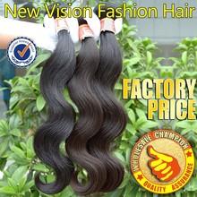 2016 KBL Full cuticle brazilian virgin hair body wave 3pcs 100 human hair weave unprocessed virgin brazilian body wave(China (Mainland))
