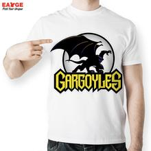 [EATGE] Anime Cartoon Funny T Shirts Cool Fashion Summer Style Brand T-shirts Gargoyle US Flying Dragon Tshirt Men
