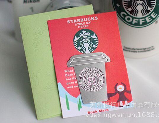 Free shipping 5 PCS Creative starbucks metal bookmark Collector's Edition,gift bookmark,Chritmas gifts(China (Mainland))