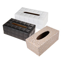 free shipping Newest modern PU Leather Home Car Rectangle Napkin Paper Tissue Box Cover  25*13.5*9.5cm(China (Mainland))