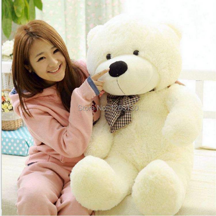 big teddy bear plush toy 100cm 5 colors doll baby toys classic big hug Bear Valentine's Day Christmas birthday gift have stock(China (Mainland))