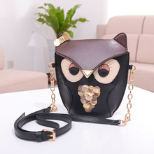 2016 New Fashion Cute Owl Print bag for Women PU Leather Satchel Shoulder Messenger Bag bandolera mujer Dropshipping