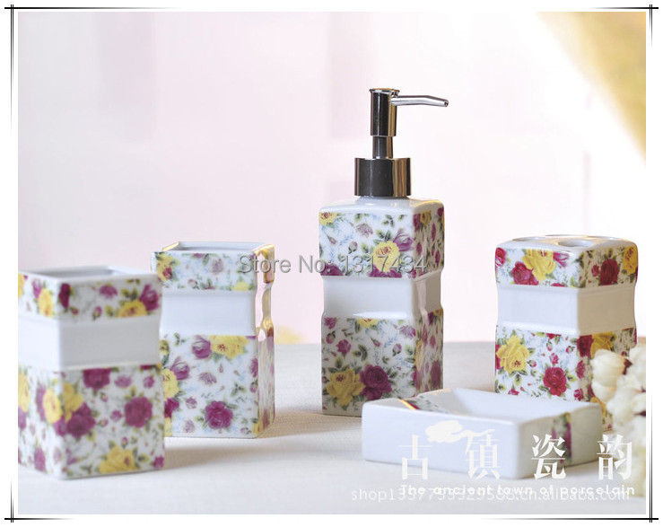 Yellow bathroom accessories sets promotion shop for for Yellow bathroom accessories