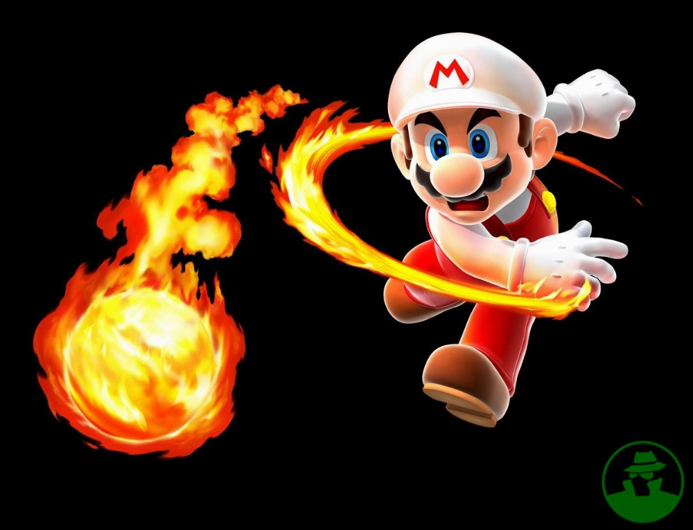 Free Shipping Fashion Bedroom Decoration Wallpaper Custom Super Mario Poster Well Design throwing fire ball WallSticker #0101(China (Mainland))