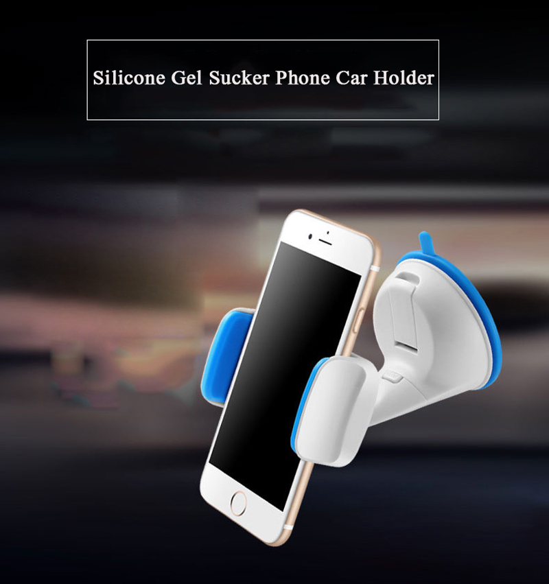 SC27 Universal Windshield Sucker Gel Silicone Mobile Phone Car Holder Mount For iPhone 5 5s 6 Samsung Smartphones GPS Stand Dock(China (Mainland))