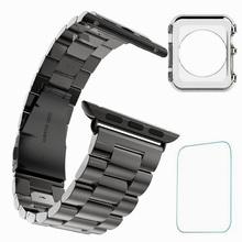 De Metal de acero inoxidable muñeca correa de la venda para Apple reloj 42 mm + Free Screen Film + envío TPU caso Ultra delgado