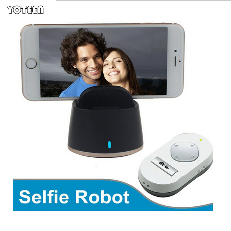 360 Degree Selfie Robot Rotation Intelligent Panorama Shooting Auto Face Tracking Bluetooth Selfie Robot for iPhone Samsung(China (Mainland))