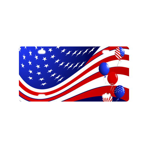 Fashionable Decor Personalized American Flag Day Metal License Plate Custom Car Tag 12 IN x 6 IN Free Shipping(China (Mainland))