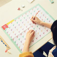 Superdeal 100 Day Countdown Calendar Learning Schedule Periodic Planner Table Gift For Kids Study Planning(China (Mainland))