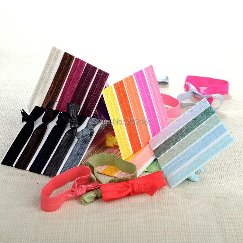 500pcs/lot Goody Ouchless Ribbon Elastics Hair Bands-Girls Women's Hair Accessories Emi Jay Like Elastic Yoga Hair Ties(China (Mainland))