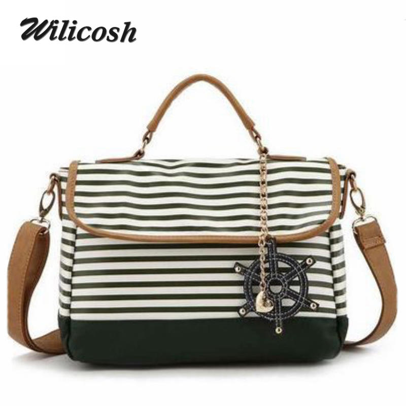 2016 New Arrival Shoulder Crossbody Bags For Women Fashion Messenger Bag Ladies Canvas Navy Style Handbags For Mom Bolsas DB5217(China (Mainland))