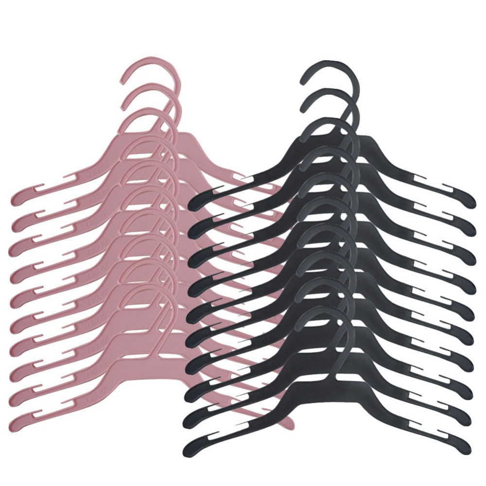 New !!! 10pcs/Lot Practical Plastic Small Baby Clothes Hanger Pet Clothing Clothes Rack Hangers Pet Products #1JT(China (Mainland))