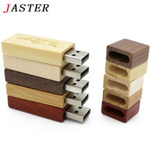 Buy JASTER Custom LOGO Wooden memory Stick usb 2.0 bamboo red wood usb flash drive pendrive 4gb 8gb 16gb 32GB U disk wedding gift for $4.33 in AliExpress store
