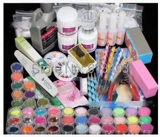 Hot nail set nail tools nail supplies a full tool kit makeup free shipping 2015(China (Mainland))
