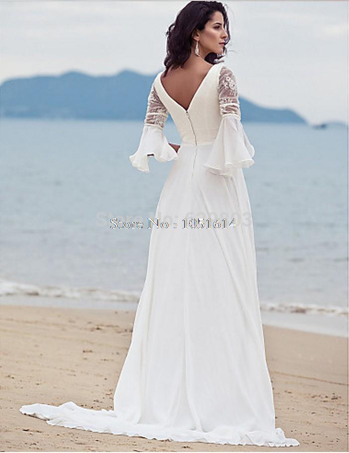 Turmec » simple wedding dress with half sleeves