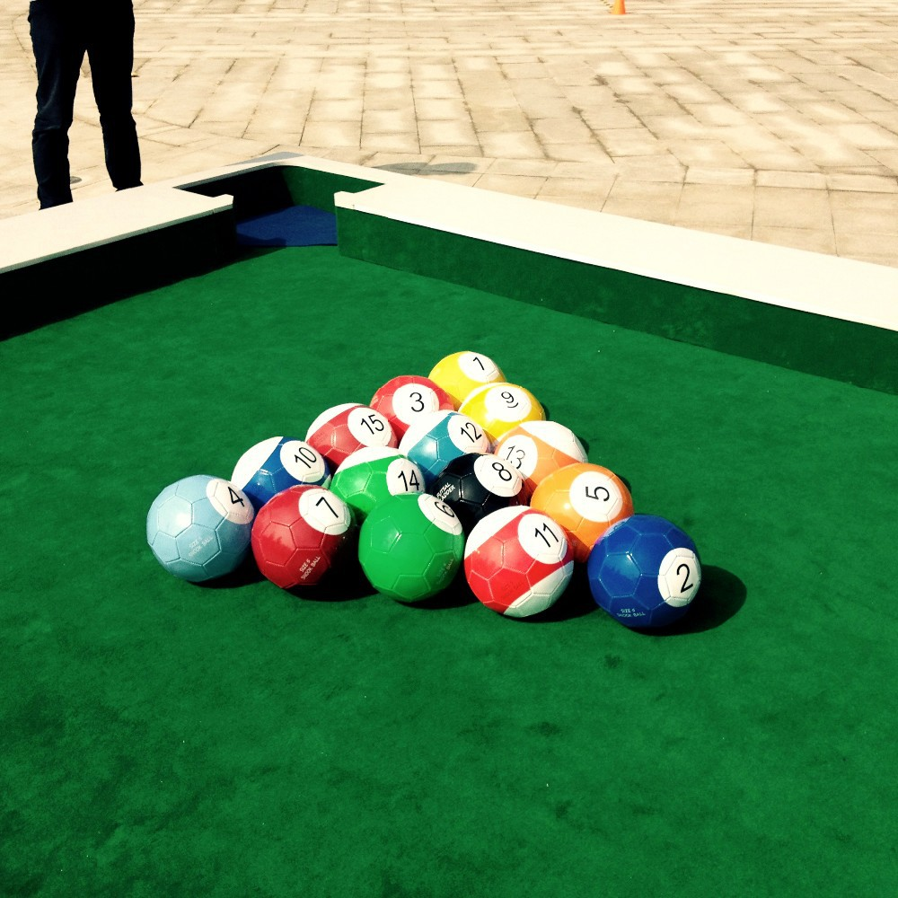 huge size billiards inflatable billiards Newest table soccer poolball snookball(China (Mainland))