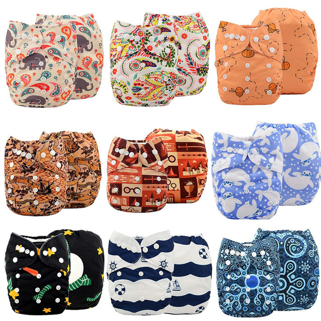 1 шт. многоразовые водонепроницаемой ткани пеленки младенца пеленки замша ткань внутренний ...
