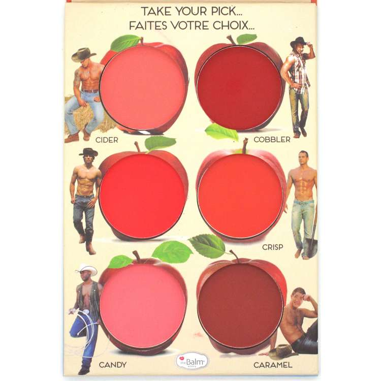 New Arrivals Thebalm Cometics The Balm Makeup Palette How 'Bout Them Apples? 6 Colors Powder Blush Blusher(China (Mainland))