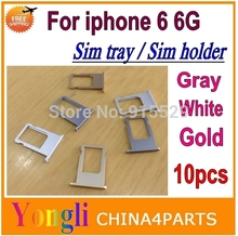 Buy 10pcs High Replacement Sim tray iPhone 6 6G 4.7 inch Sim tray card holder slot Silver Gold Grey Color Free for $18.48 in AliExpress store
