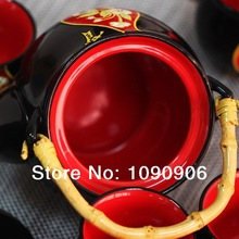 Free shipping black China classical ceramic tea set