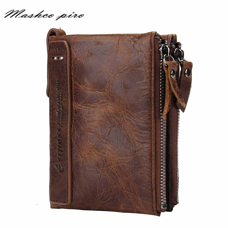 hot-sale-men-wallets-genuine-leather-card-holder-coin-zipper-pocket-short-men's-wallet-small-purse-carteira-masculina-for-male