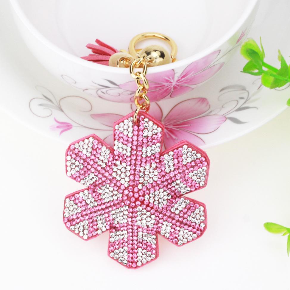 key chain Crystal Rhinestone Keyring snow Key Holder Purse Bag For Car christmas Gift Keychains 2017 brand key chain