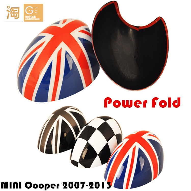 Фотография Power Fold for MINI Cooper side rear view mirror Cover for R55 R56 R57 R58 R59 R60 R61