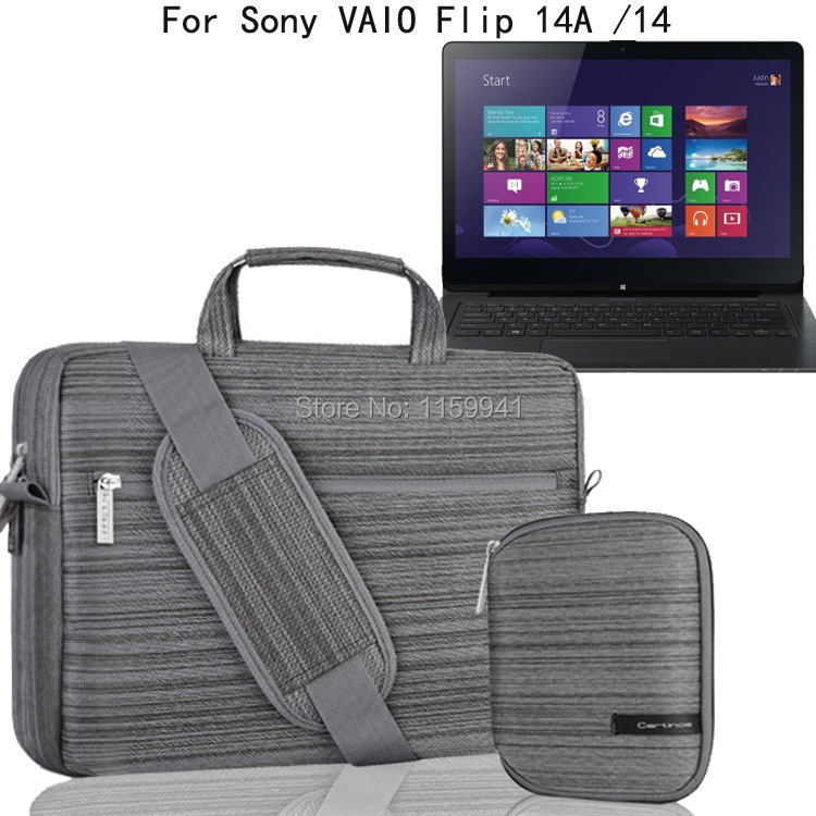 For Sony VAIO Flip 14A 14 14-inch Laptop Ultrabook Multi-functional Messenger Bag Computer Briefcase Sleeve Case Shoulder<br><br>Aliexpress