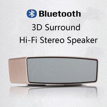 Portable HiFi 3D Subwoofer Bluetooth Loudspeakers Double Surround Speaker Support TF Card USB Disk Mp3 Player Sound Box(China (Mainland))