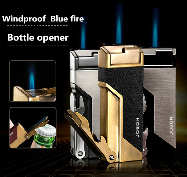jobon beer bottle opener with cigarette lighter smoking metal luxury originality personality. Black Bedroom Furniture Sets. Home Design Ideas