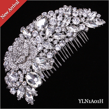 12pcs/lot Glittering Crystal Rhinestone Hair Comb