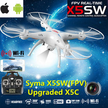 Syma X5SW rc helicopter Wifi FPV Real-time 2.4G Newest RC Quadcopter Drone UAV RTF UFO with 2MP HD Camera(China (Mainland))