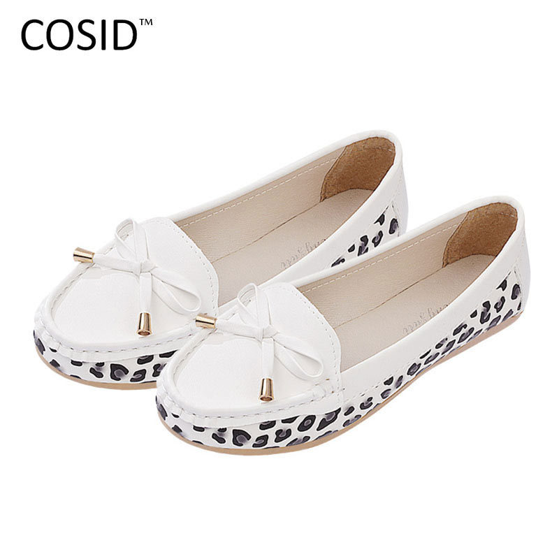 Breathable Bow Slip on Women Flats Moccasins Loafers Pregnant Soft Sole Mother Shoes Female Flat Shoes White Black BSN-312<br><br>Aliexpress
