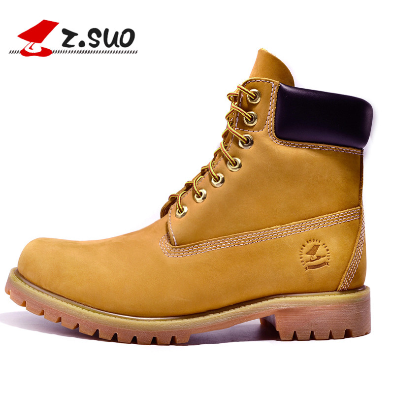 Genuine Leather Men Boots Ankle New England Martin Shoes Fashion Autumn Winter ZS10061 - Feng shang co., LTD store